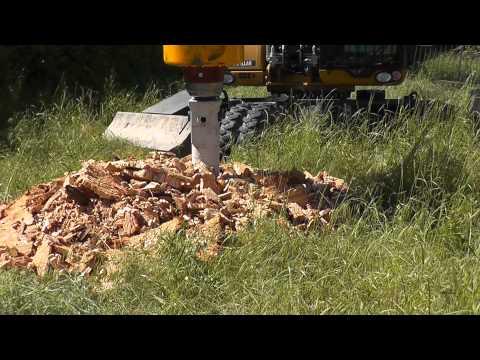 Spaccaceppi Ghedini TT 73 su CAT M316D - Log splitter on Caterpillar excavator