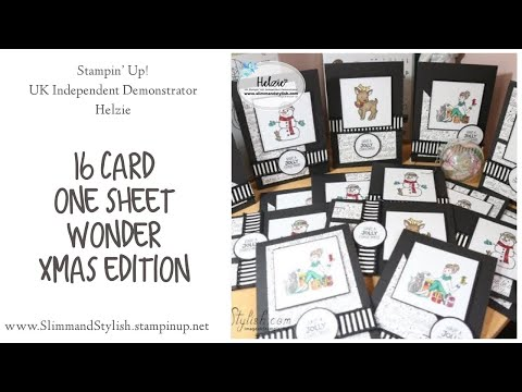 Stampin' Up! One Sheet Wonder – Christmas Cards … 15 cards from one 12×12 sheet