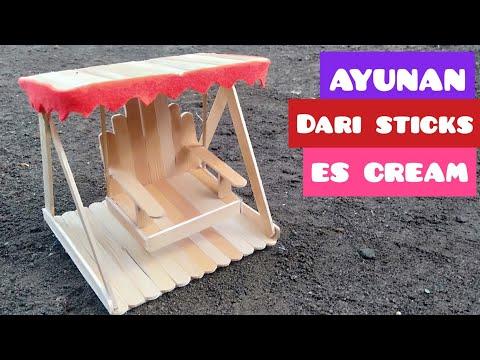 Ide kreatif ayunan stik es krim kerajinan tangan   diy craft