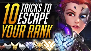 Top 10 MOST POWERFUL Tricks to INSTANTLY ESCAPE ANY RANK: Pro Tips for ALL Heroes - Overwatch Guide