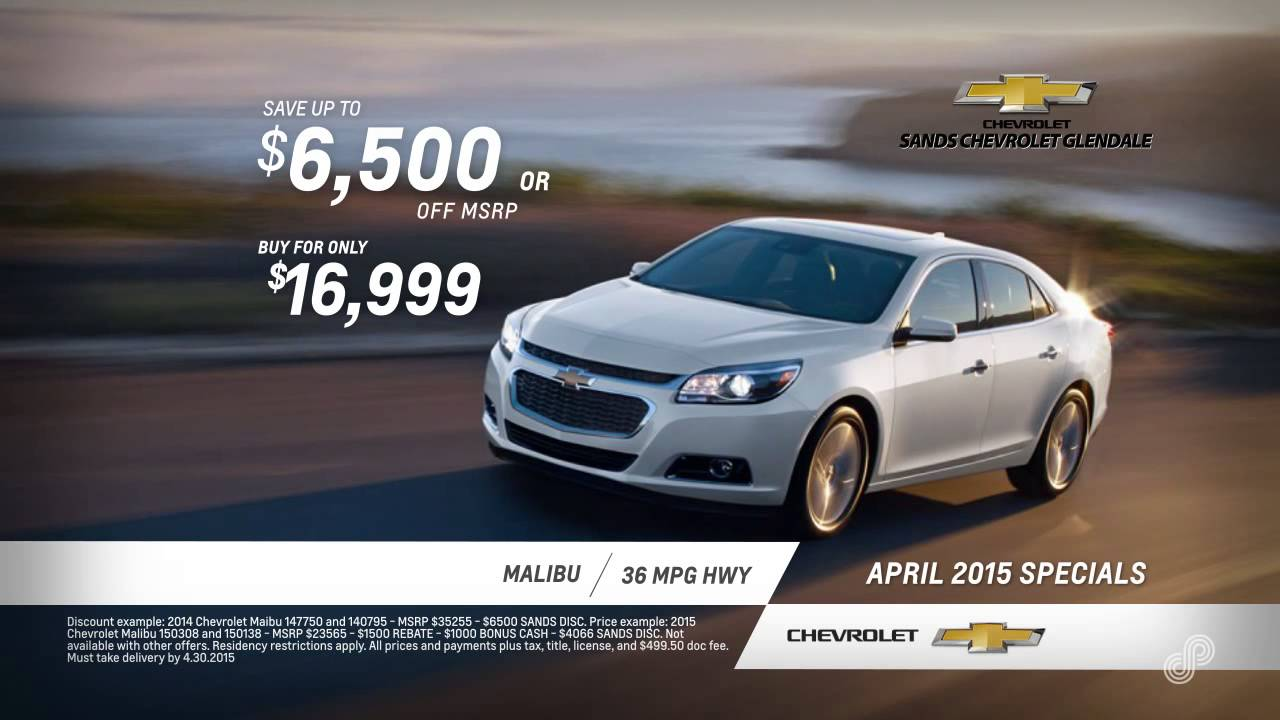 sands chevrolet glendale offers april 2015 spl youtube. Cars Review. Best American Auto & Cars Review