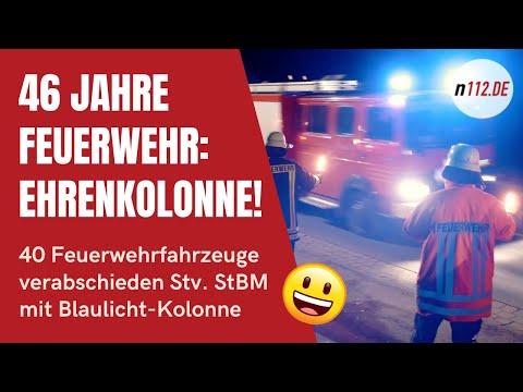 Gänsehaut: Abschiedskolonne mit 40 Einsatzfahrzeugen nach 46 Jahren Feuerwehr (Archiv von 2017)