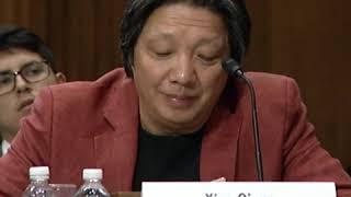 中国数字时 创办人萧强在国会介绍六四网络封锁情况
