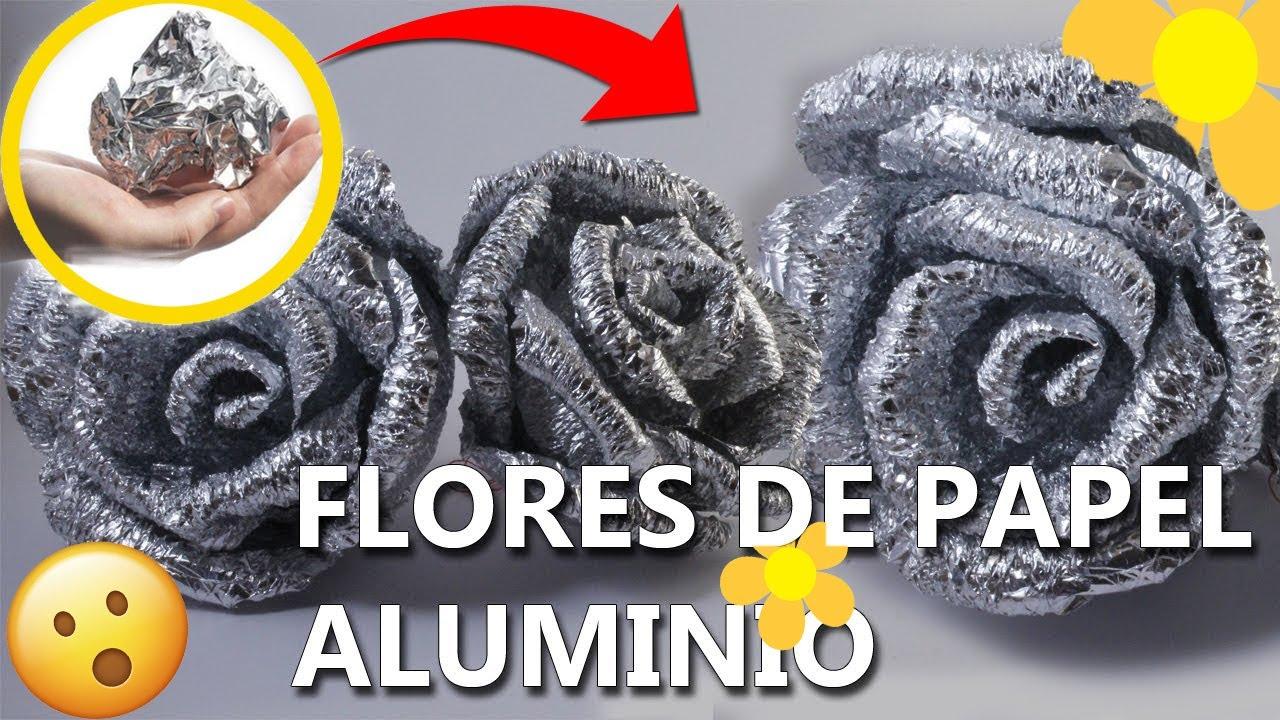 Como hacer flores de papel aluminio manualidades faciles - Cosas navidenas para hacer en casa faciles ...