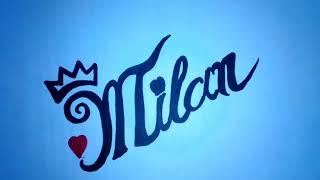 MILAN name art whatsapp status / by RV10 beards cover / new name creation editor/
