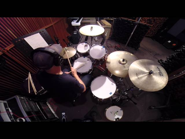 Donny Brown - In The Studio Recording Drum Tracks (Summer 2014) - East Lansing, MI