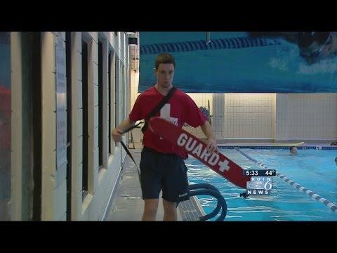 Teenage lifeguard saves child in pool