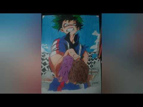 Speed Drawing Izuku Midoriya ( BOKU NO HERO ACADEMIA ).