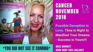 Cancer November 2018 *You Did Not See it Coming*