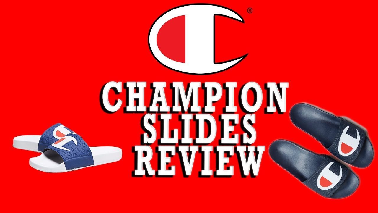 cd57aefb6f64 Champion Slides  unboxing and review!!! - YouTube