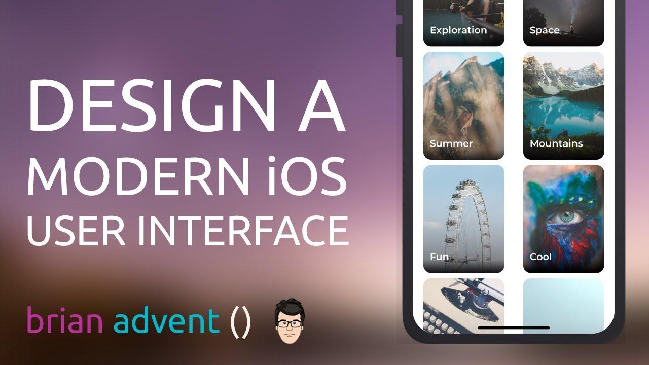 Ui Design Tutorial Create A Modern Ios App Design With Sketch Youtube
