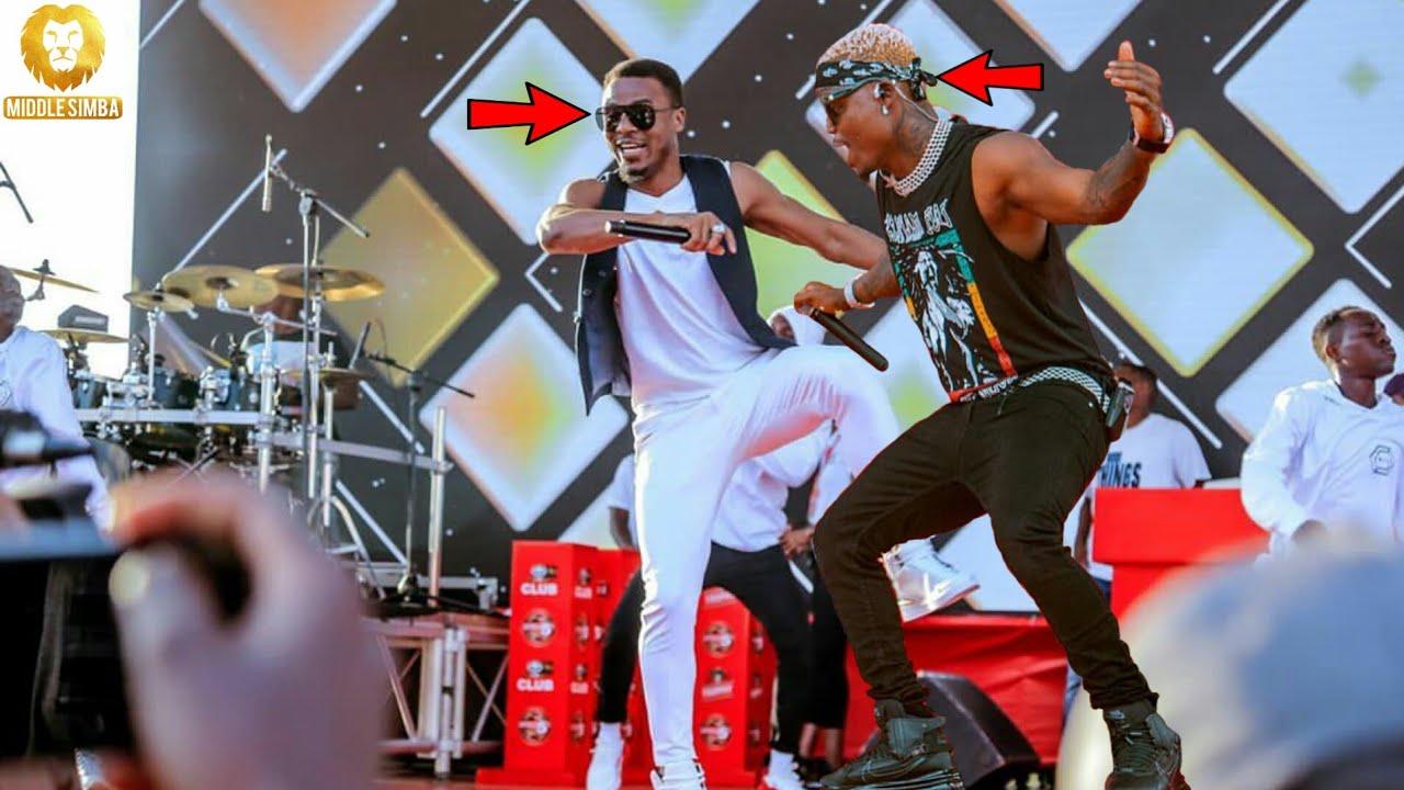 Download VIDEO:ALIKIBA na HARMONIZE walivyopiga show stage moja mbele ya Etoo,Huwezi amini macho yako.