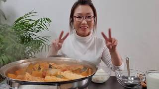 돼지고기 김치찌개 먹방…