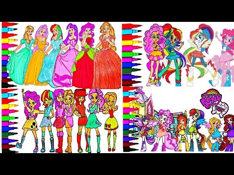 My Little Pony Coloring Book Pages MLP Equestria Compilation Kids Fun Art Kids Balloons Toys