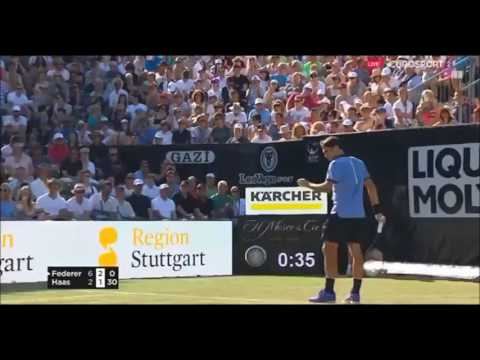 Roger Federer vs Tommy Haas Stuttgart 2017 Tennis Highlights