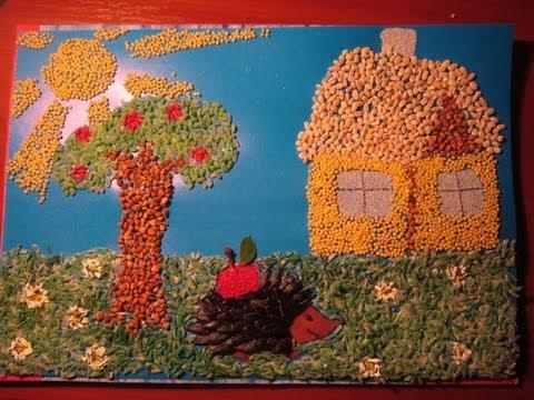 Поделка в детский сад из пшенной крупы