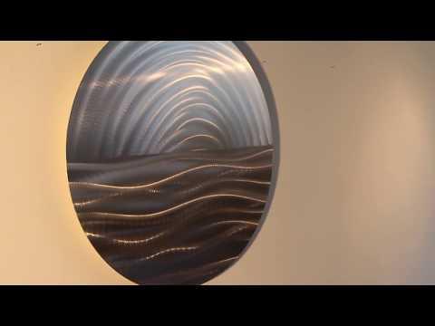 Metal Wall Art Circle Panel by Lucsharp.com