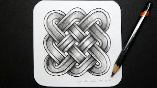 Infinity Celtic Knot - How to Draw 3D Knot - Step by Step