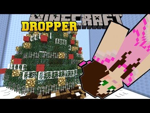 Minecraft: DIVING INTO A CHRISTMAS TREE! - TALLCRAFT DROPPER - Custom Map [3]