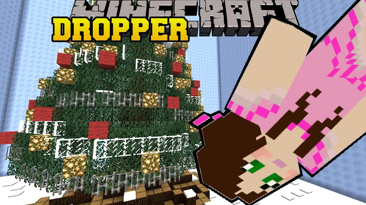 Minecraft: DIVING INTO A CHRISTMAS TREE! - TALLCRAFT DROPPER ...