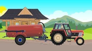 ☻#Tractor for Children - Sewage treatment plant, Farm works | Rolnik prace w gospodarstwie ☻