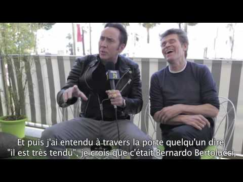 Nicolas Cage & Willem Dafoe - Interview for 'Dog Eat Dog' in Cannes