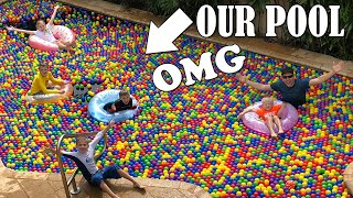 HUGE Swimming Pool Ball Pit