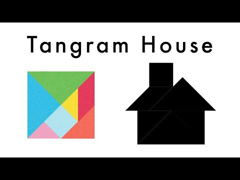 Make This Tangram House 🏠 - Download A Free Tangram Puzzle Sheet In The Video Description