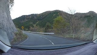 鳥取県道115号常藤関金線、犬挾峠、紅葉、関金-蒜山高原 車載動画