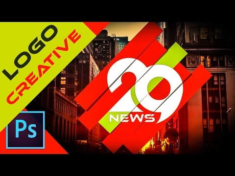 Create Professional Logo Design in Photoshop cc| logo News channel