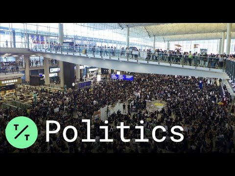 Hong Kong Protesters Occupy Airport With Mass Sit-In
