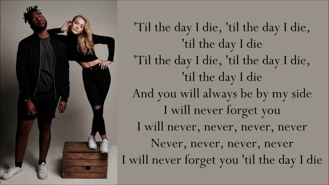 Zara Larsson Never Forget You Ft Mnek Lyrics Youtube