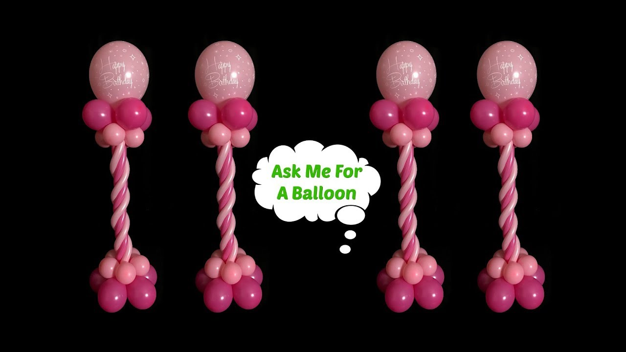 Birthday balloon centerpieces without stand youtube