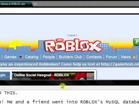 ROBLOX - 1x1x1x1 - UNBANNED & REBANNED - MySQL DB HACK!