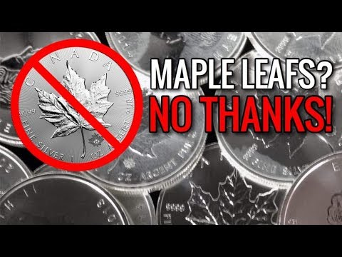 The 2 Reasons People REFUSE To Stack Canadian Silver Maple Leafs | Precious Metal Coin Stacking 2020