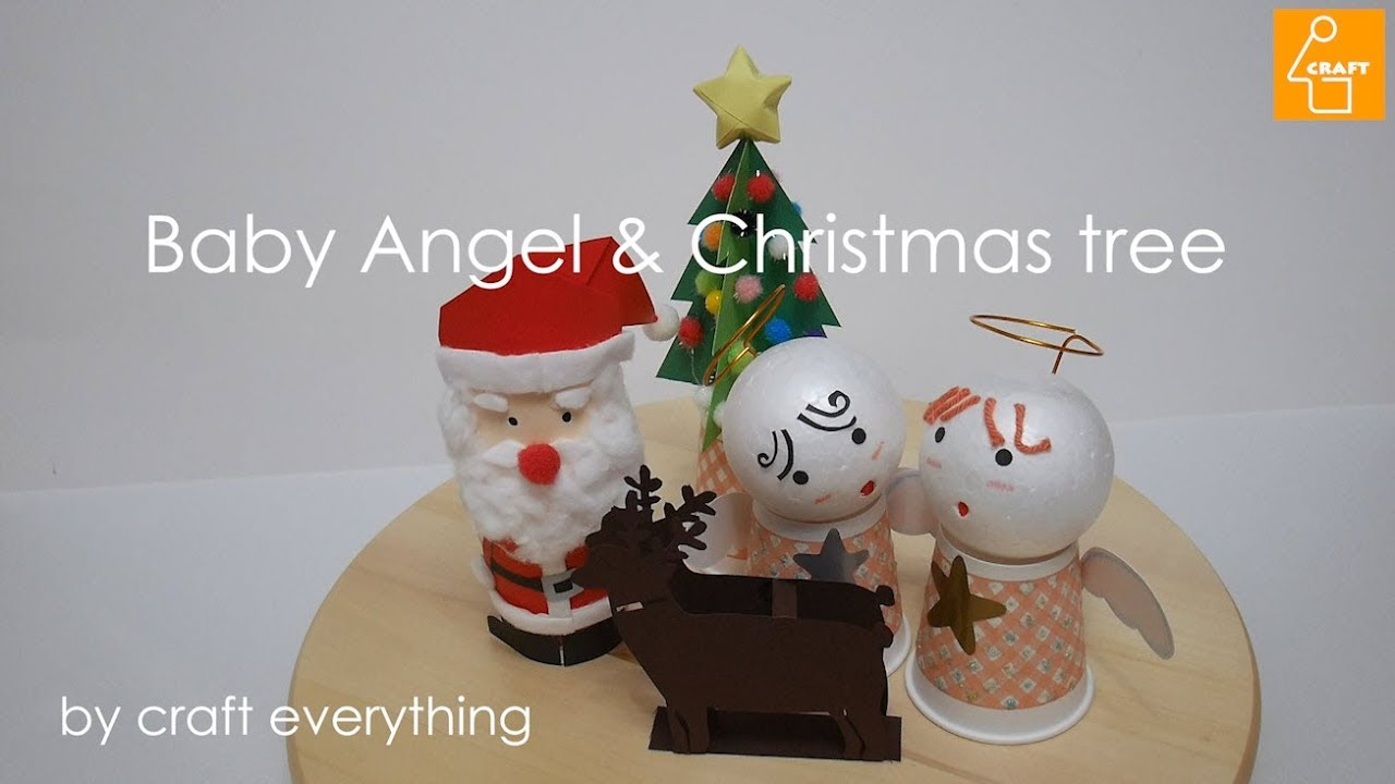 How To Make Diy Lovely Baby Angle Christmas Tree Paper Craft Kids