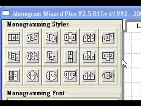 Needleheads monogram wizard plus.