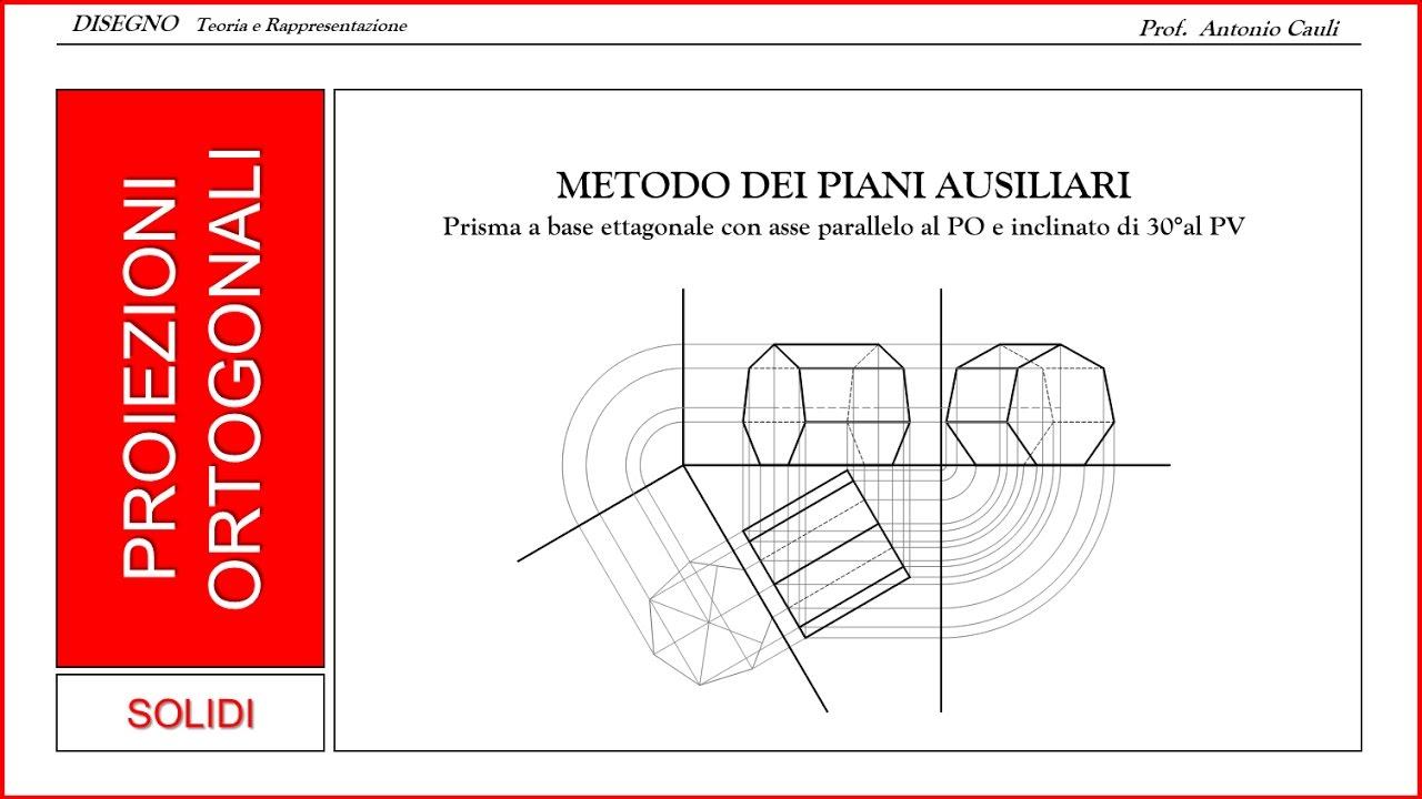 Metodo dei piani ausiliari prisma con asse parallelo al for Piani a una storia con piano seminterrato