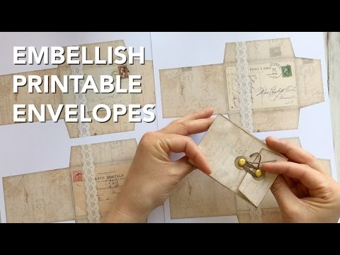 How To Embellish Printable Envelopes
