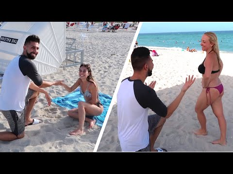 ASKING RANDOM GIRLS TO GET MARRIED! (Got rejected!)
