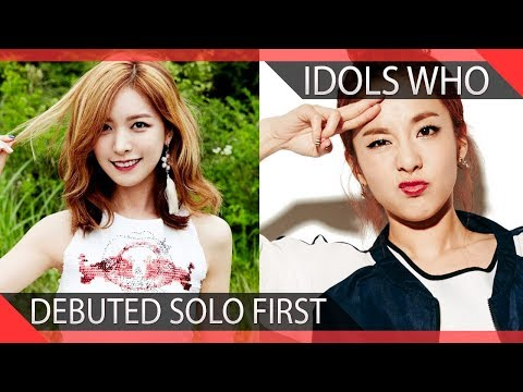 KPOP Idols Who Debuted Solo Before Being In A Group
