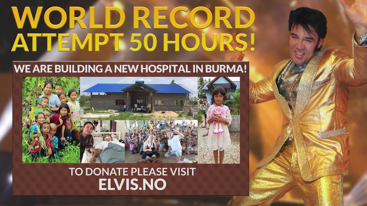 Kjell Elvis forsøker seg på verdensrekord