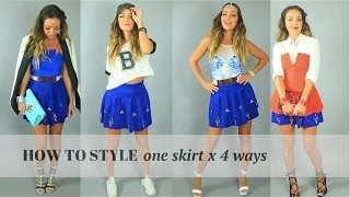 HOW TO STYLE: ONE SKIRT x FOUR WAYS  | AMBER RENAE