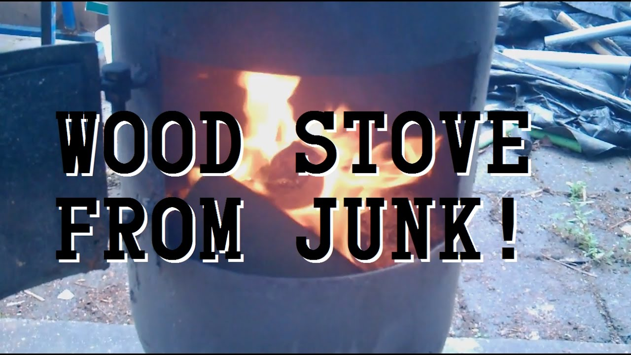 Diy Wood Stove From Scrap Air Compressor Tank Youtube