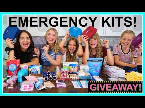 EMERGENCY KITS FOR TEEN GIRLS 2019-2020!  |  BACK TO SCHOOL!  |  PERIOD KIT!