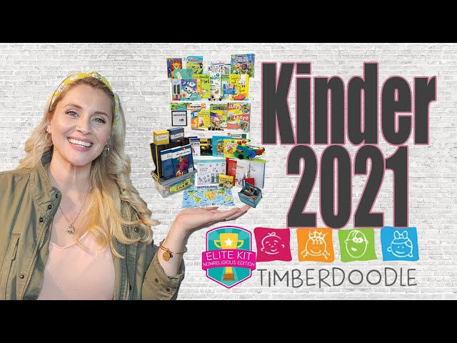 KINDERGARTEN 2021 | Timberdoodle Non-Religious Curriculum Kit | 2021-2022 Homeschool Year | Secular