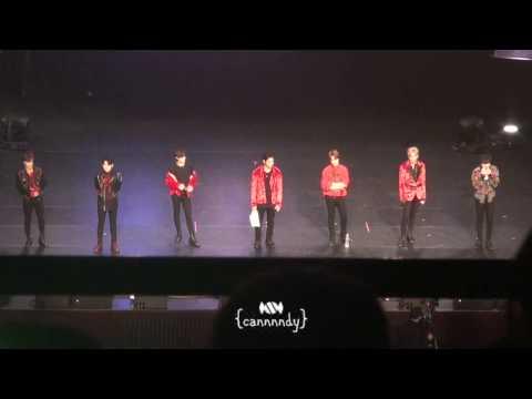 170106 갓세븐 GOT7 Fan Meeting in Taipei - Ending Ment