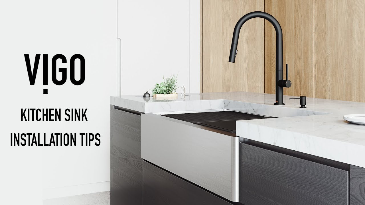 Vigo Farmhouse Kitchen Sink Installation Tips Youtube
