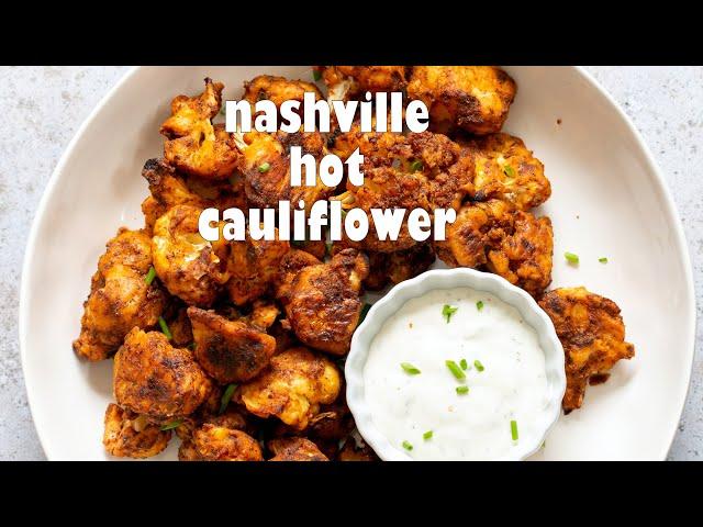 VEGAN NASHVILLE HOT CAULIFLOWER BITES - GF option | Vegan Richa Recipes