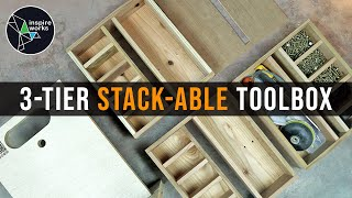 How to Make an Awesome 3 Tier Stack-able Toolbox (easy built with reclaimed pallet wood)